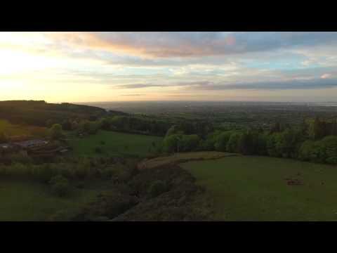 Sunset at Viewpoint, Dublin  Mountains - DJI Phantom 3 Advanced