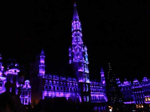 Grand Place Brussels xmas Lights 2017