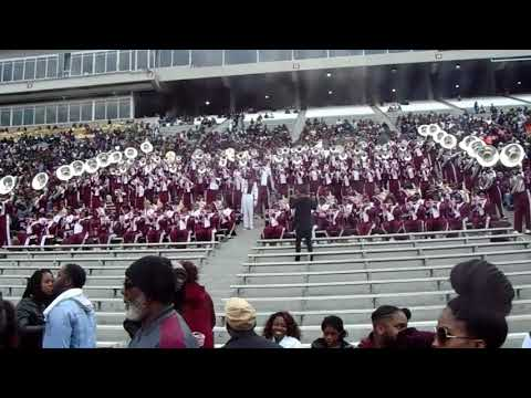 Alabama A&M Marching Maroon White Band Playing Drowning In Stands (2017) Magic City Classic vs ASU