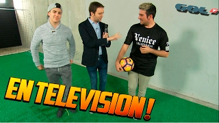 VOY A LA TELEVISION Y HAGO UN RETO DE FUTBOL !! - ElChurches