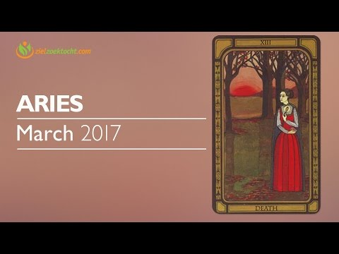 Aries March 2017 Psychic Tarot Horoscope Reading 💝New Journey determination & Self Control