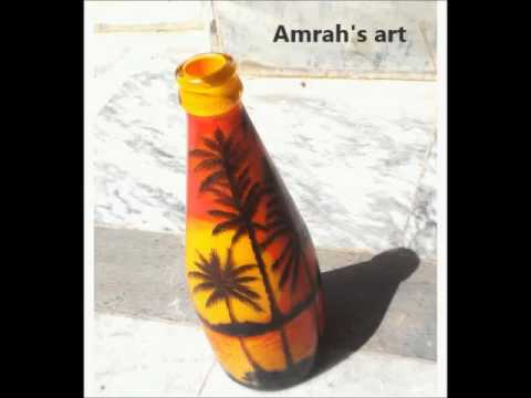 Glass bottle painted by Amrah
