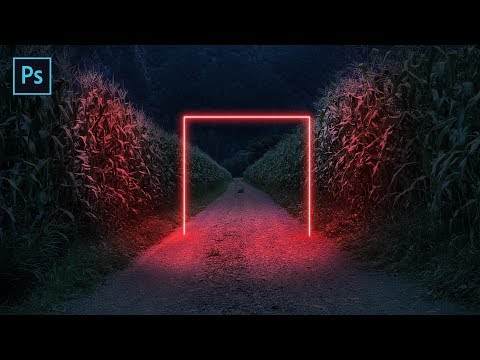 Neon Light Effect - Colorful Glow Lines Photoshop Tutorial