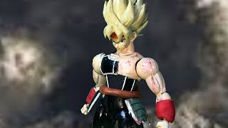 Bardock vs frieza #Stopmotion Dragonball movie