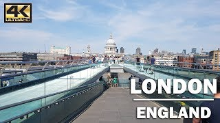 ⁴ᴷ Walking London's Street from St Paul's Underground to Southbank
