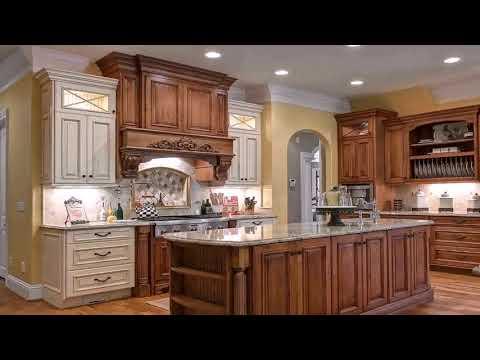 Kitchen With Wood Range Hood - DaddyGif.com