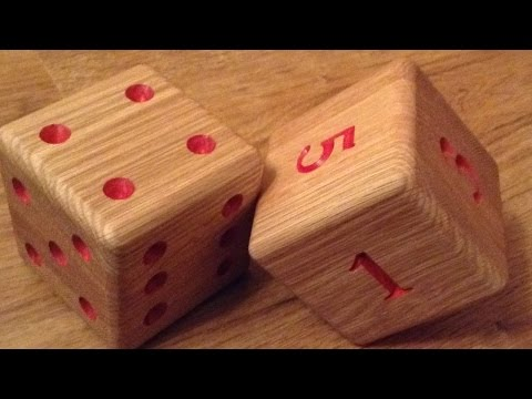 Making a Large Paperweight Oak Dice