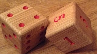 Large Paperweight Oak Dice