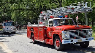 Fire Truck Lights And Sirens Parade - Tri Counties Jamesburg Muster 6-23-19
