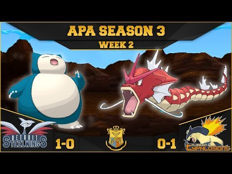 LONG LIVE SNORLAX! • Detroit Steel Wings vs Florida Typhlosions APA W2 • Pokemon Ultra Sun and Moon
