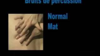 Percussion Savoir reconnaître la sonorité normale lors de la percussion dun thorax
