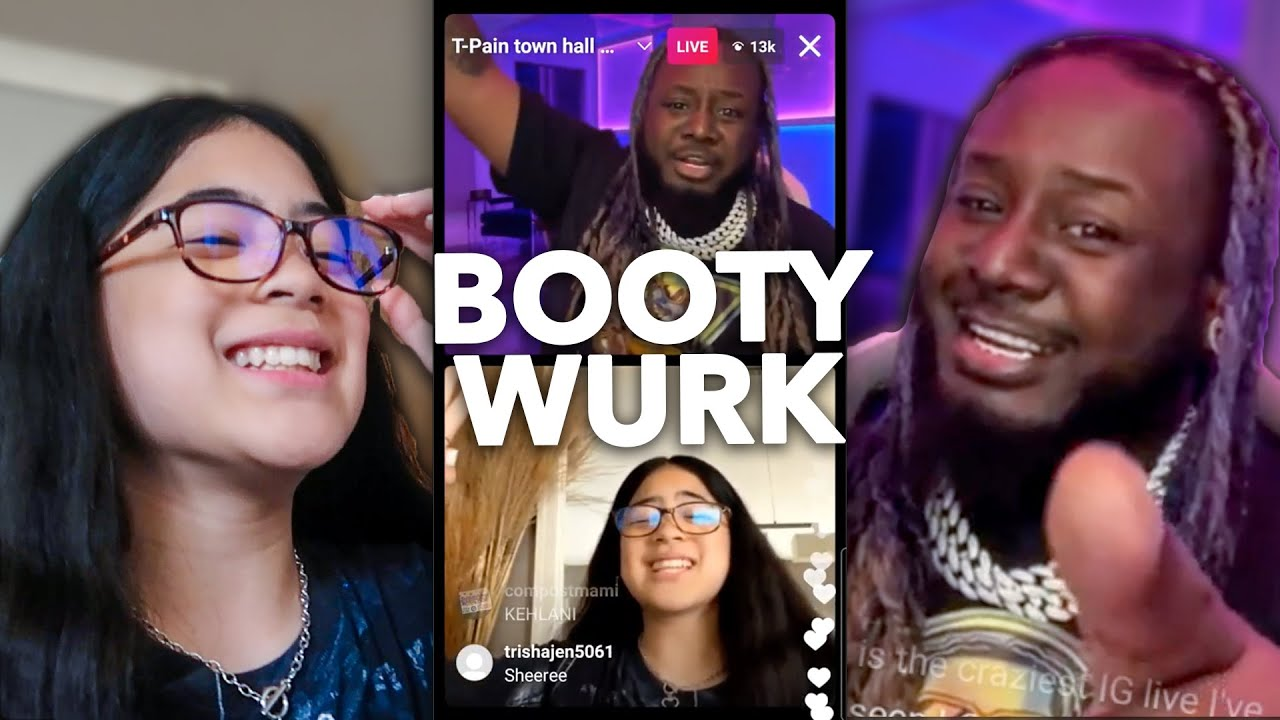 T PAIN CALLED ME!! (Booty Work Dance Trend!!) | Ranz and Niana