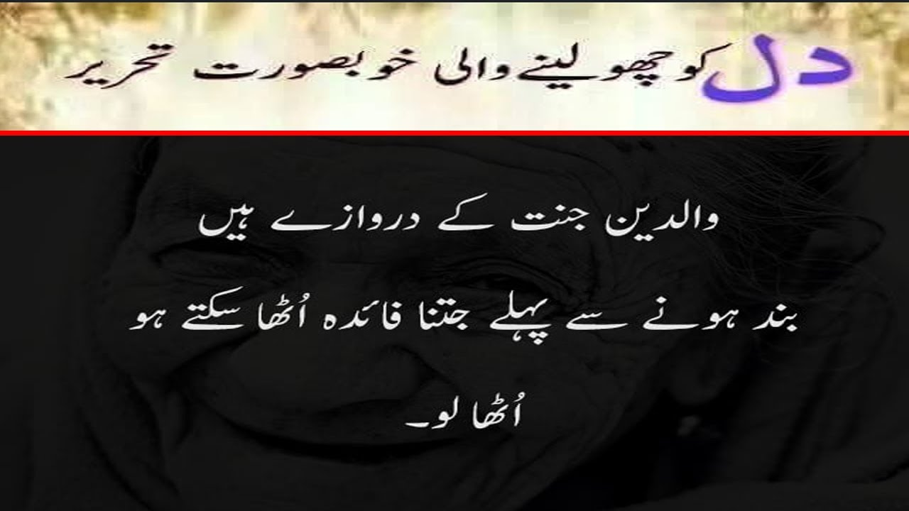 Heart touching parents quotes in urdu | Mother quotes ...