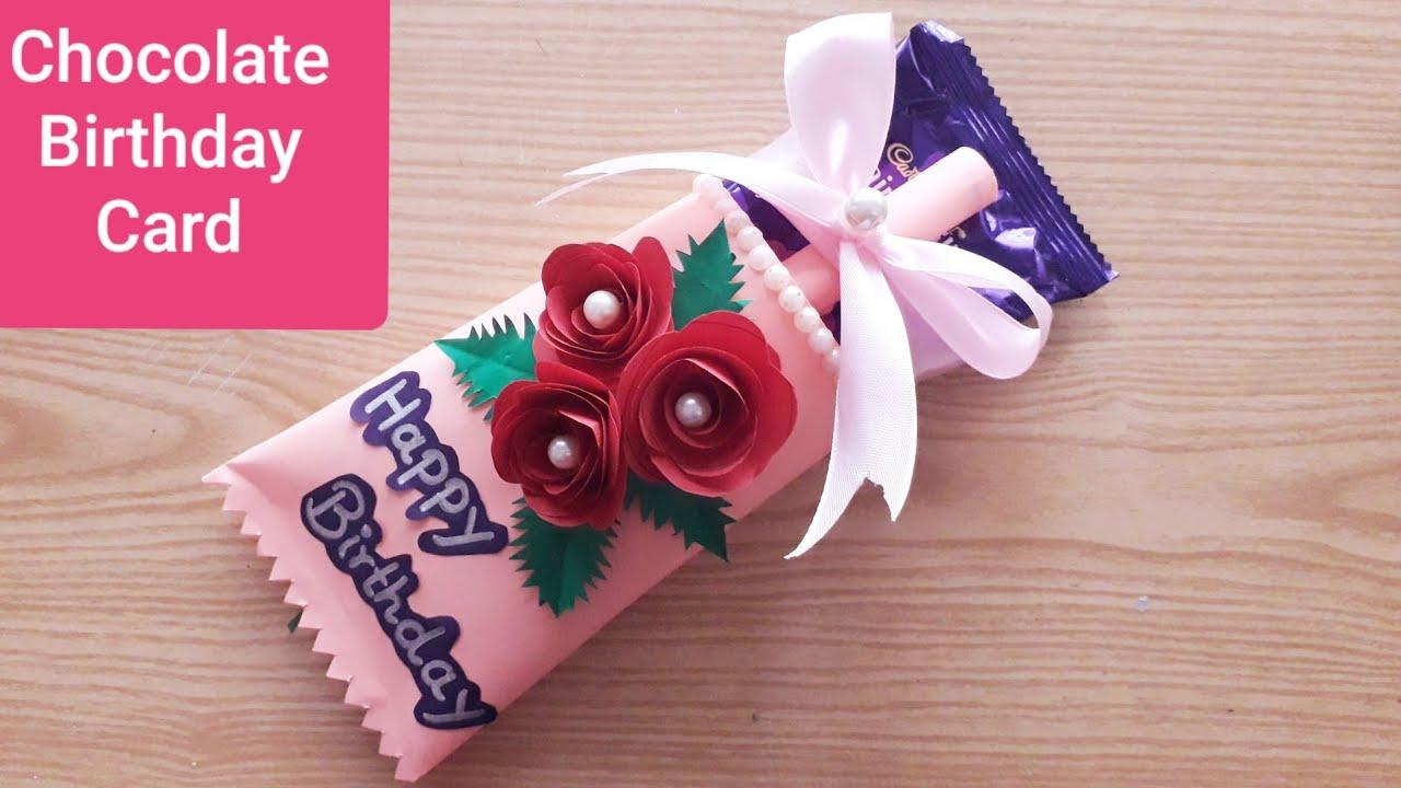 How To Make Chocolate Birthday Card Handmade Special Chocolate Birthday  Card #Chocolate Day Card