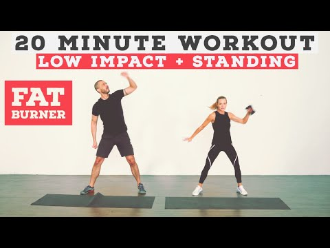 20 MINUTE NO EQUIPMENT FROM HOME WORKOUT - LOW IMPACT!