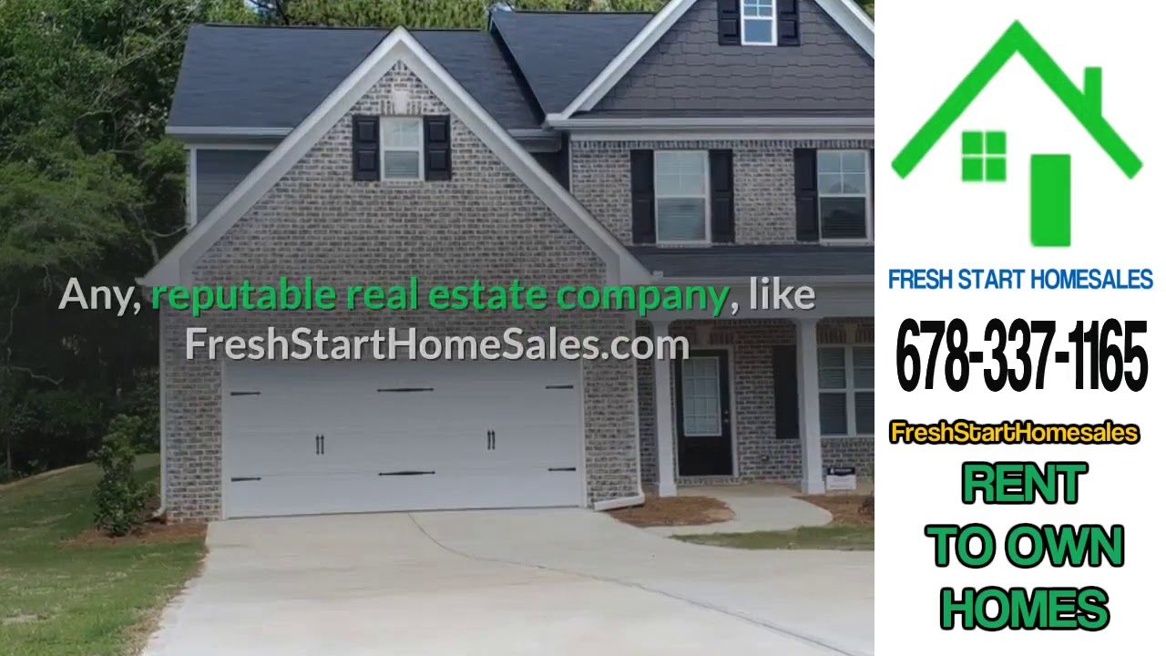Are Gwinnett County Ga. Rent To Own Homes A Scam? 678-337-1165
