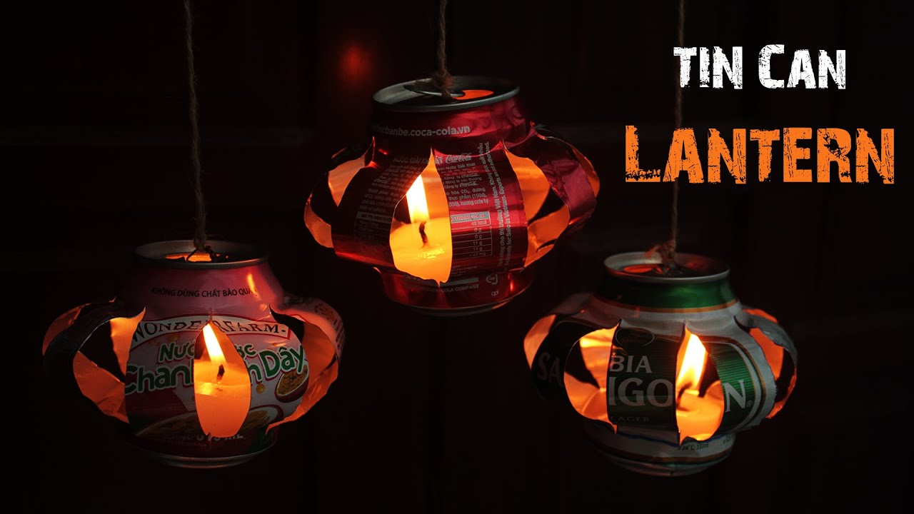 How to make tin can lanterns - How To Create Tin Can Lanterns Easy To Make Just5mins