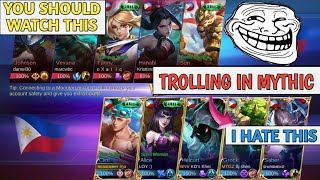 TROLLING IN MYTHIC | YOU SHOULD WATCH THIS | MOBILE LEGENDS