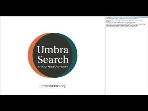 Works in Progress Webinar Umbra Search African American History