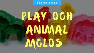 Play Doh Animal Molds Elephant Lion Giraffe Zebra