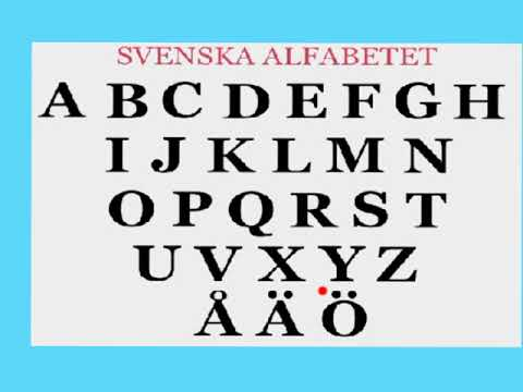 Svenska alfabetet SFI/The swedish alphabet