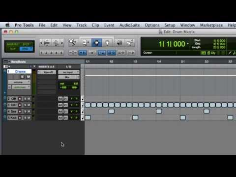 Creating a Drum Editing Matrix in Pro Tools
