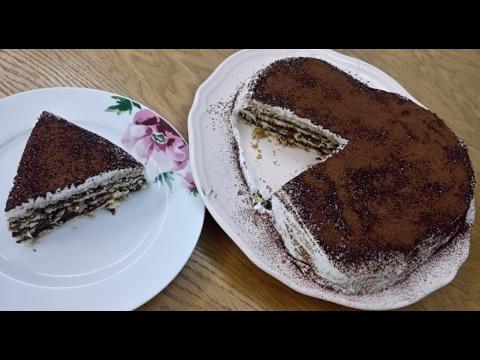 Sevgililer Günü Özel - Bisküvili Kalp Pasta