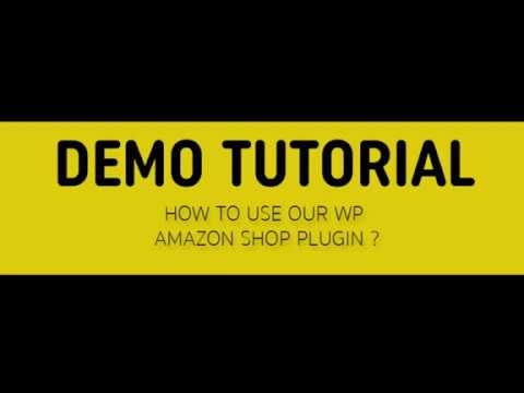 Demo Tutorial for WP Amazon Shop Dropshipping & Affiliate Plugin thumbnail