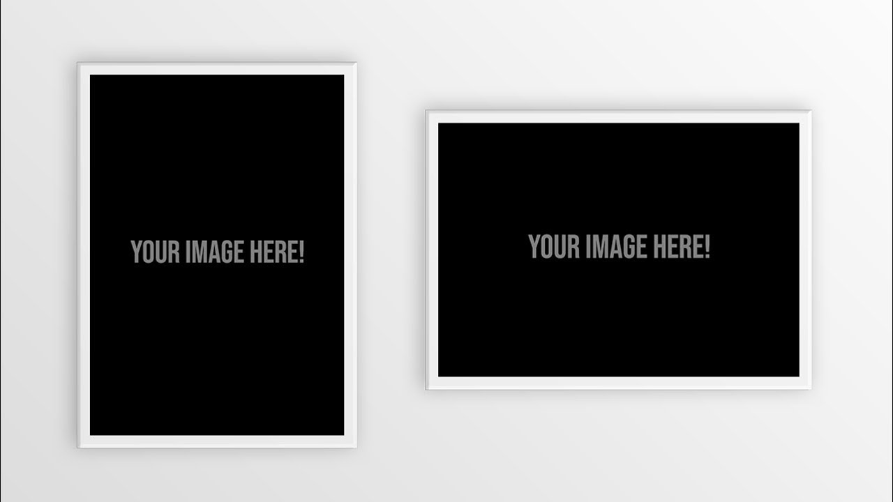 Free Download Poster Frame Mockup Psd Template Photoshop Youtube