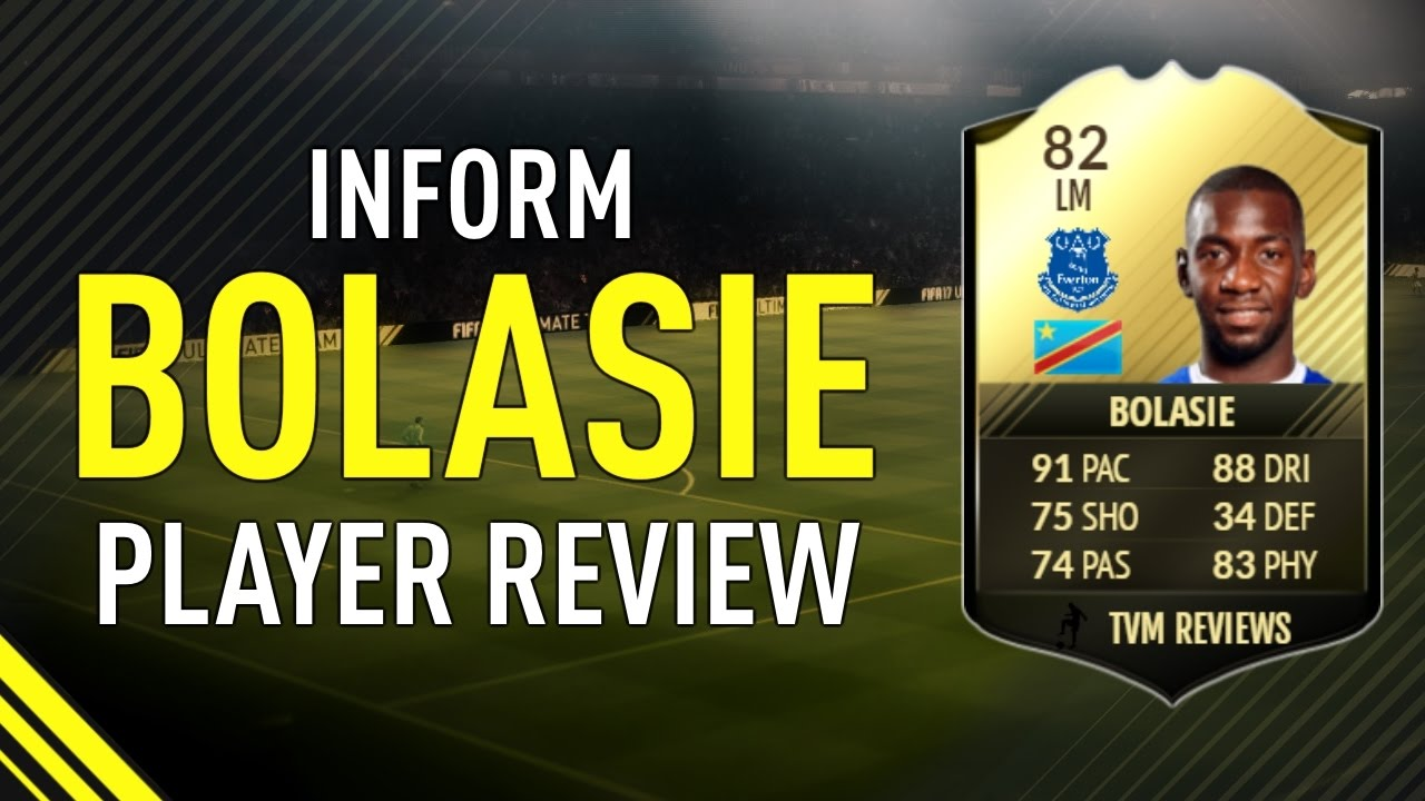 fifa 17 inform bolasie 82 player review youtube. Black Bedroom Furniture Sets. Home Design Ideas