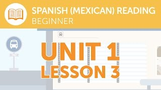 Mexican Spanish Reading for Beginners - A Mexican Spanish Service Notice at the Station