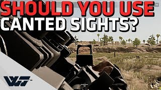 Should you use CANTED SIGHTS? - Test/analysis/comparison - PUBG thumbnail