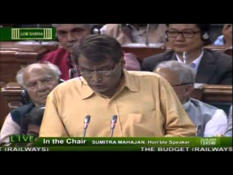 Union Railway Minister Shri Suresh Prabhu presented #RailBudget2015 in Parliament- 26.02.2015