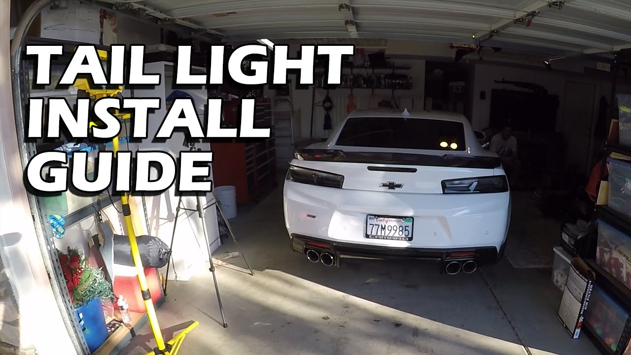 How To Camaro Smoked Blackout Tail Lights Install Guide