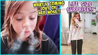 WE TRY DRAGON BREATH AND WHO GETS A LIFE SIZE SURPRISE?!