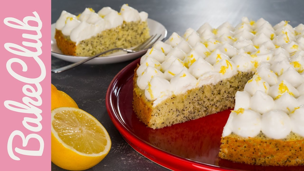 Zitronen Mohn Kuchen Bakeclub Youtube