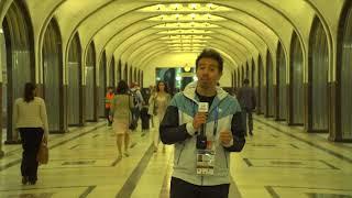 Rafa Cotelo recorrió el metro de Moscú, una verdadera obra de arte y una muestra de opulencia