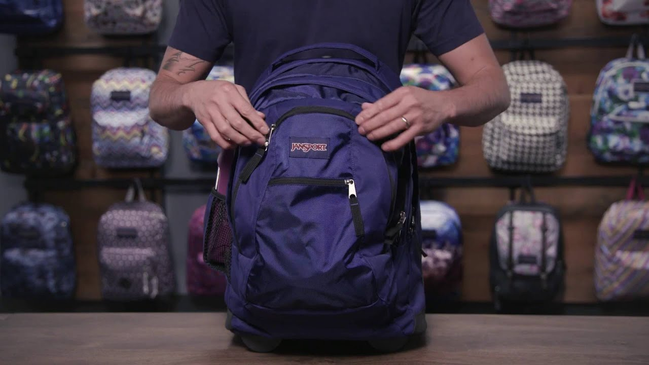JanSport Pack Review  Driver 8 Rolling Backpack - YouTube 4d92d04d2a