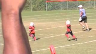 pick six 5 year old tackle football game 2012