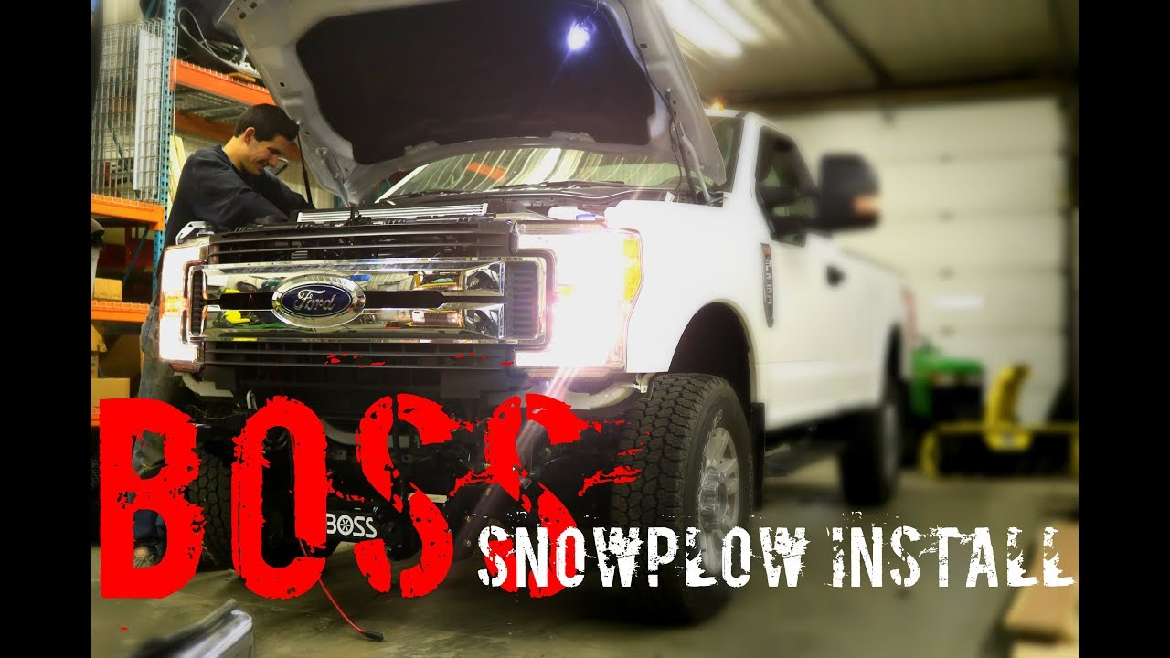 BOSS Plow Install | 2017 F-250 | How To - YouTube  F Boss Plow Wiring Diagram on boss snow plow bracket manuals, boss plow solenoid, western plow diagram, boss snow plow control stick, boss snow plow lights, 99 f250 trailer harness diagram, fisher plow relay diagram, boss snow plow parts, meyer snow plow parts diagram,