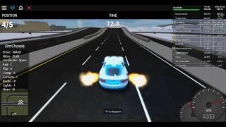 veicolo simulatore Roblox autostrada gara