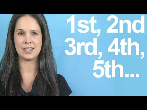 How to Pronounce ORDINAL NUMBERS -- American English