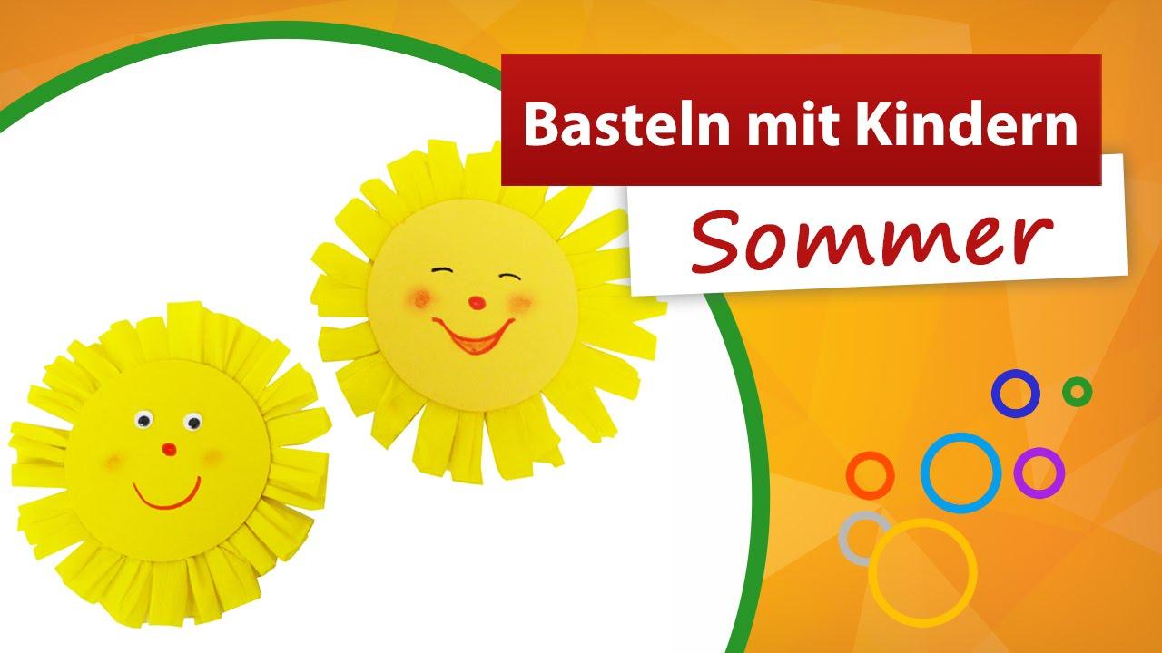Basteln mit kindern sommer sonne basteln trendmarkt24 - Sommer dekoration basteln ...