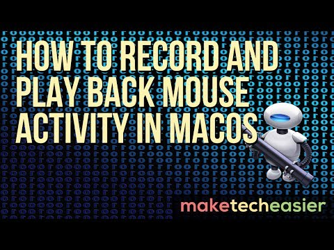 How to Record and Play Back Mouse Activity in macOS