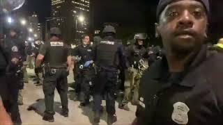 Detroit protests against police brutality turn violent
