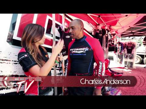 Jettibe TV  Host Amber Goetz   with Charles Anderson  Sport Class Jetski Racer  HX