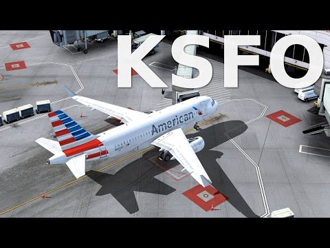 A319 San Francisco Landing (NEW SCENERY!)