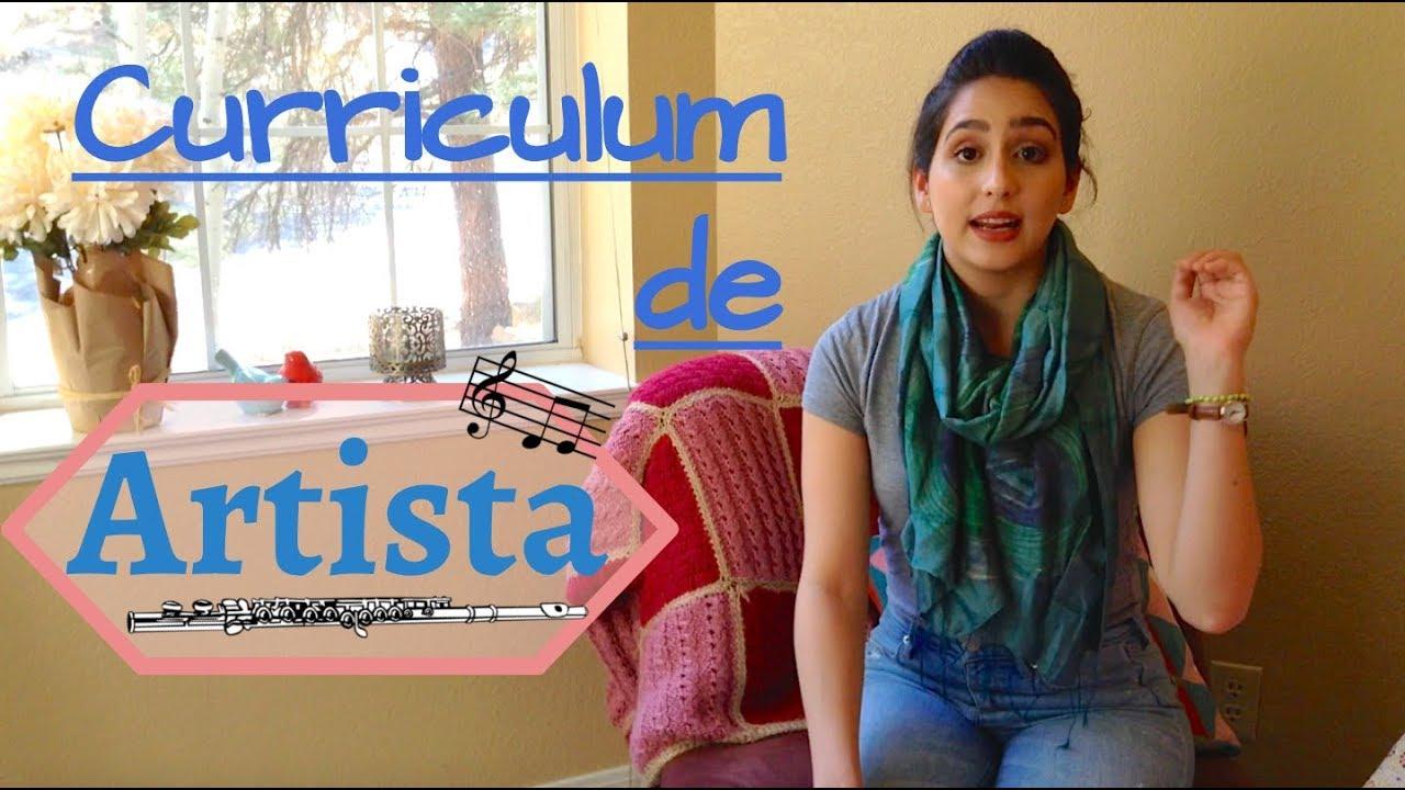Cómo hacer tu Curriculum de Artista? | CV Artístico - YouTube