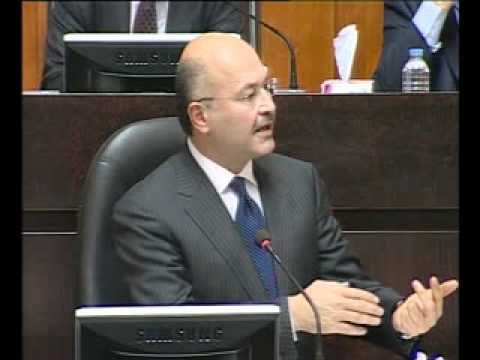Barham Salih in Parliament 9 3 2011 Part 5