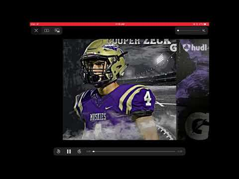 Cooper Zeck Highlights: TE, Muscatine High School - Muscatine, Iowa